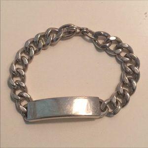 Vintage 1970's sterling silver ID bracelet